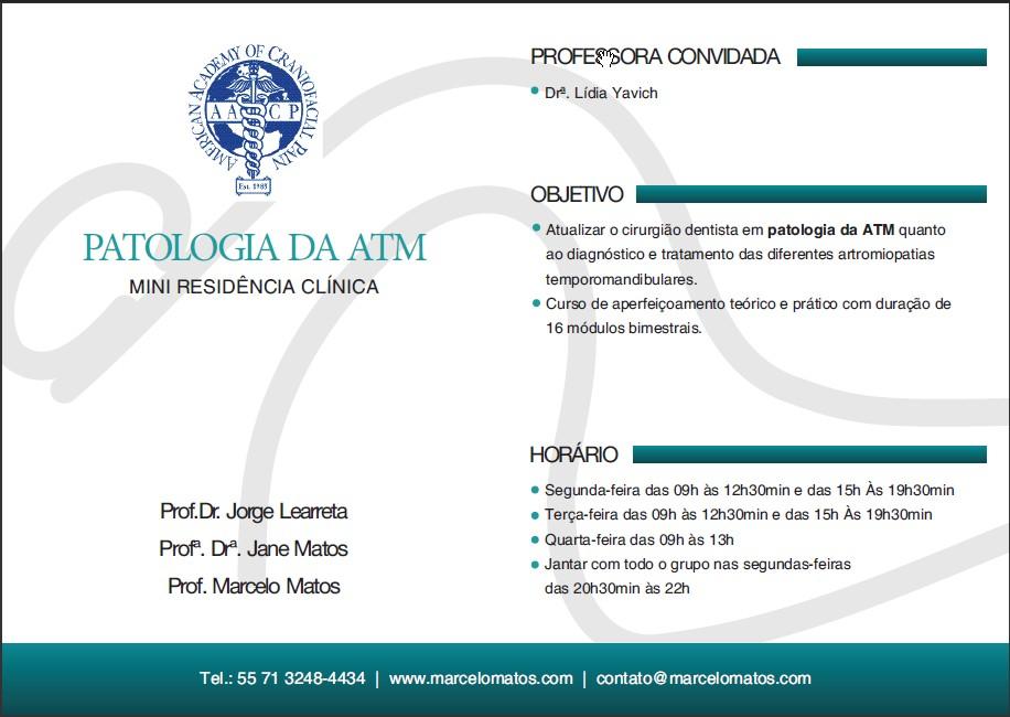 Mini Residência em Patologia da ATM