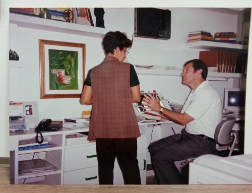 Túnel do tempo – Visita do Dr. Jeffrey Okeson, dos EUA, à minha clínica em 1994