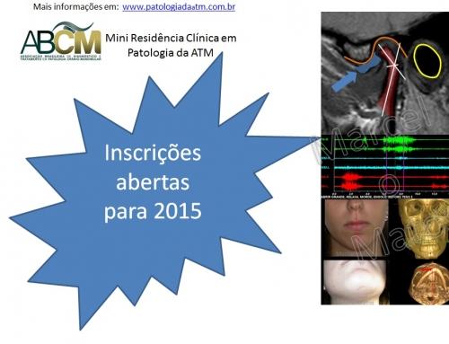 Mini Residência em Patologia da ATM – Cursos para 2015!!!