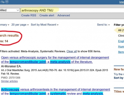 Evidências científicas e Artroscopia da ATM