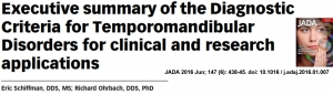 Artigo sobre diagnóstico da ATM pelo DCTMD